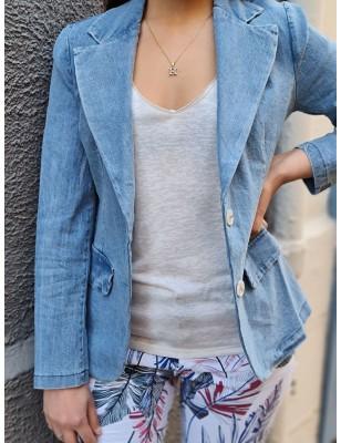 Veste Alia en jean bleu clair