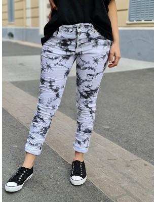 Jeans baggy Uria blanc et...