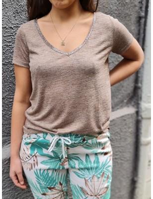 Tee-shirt LPB Ariana marron