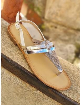Sandales Virginie argent
